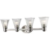 Z-Lite 449-4V-BN Intrepid 4 Light 32 inch Brushed Nickel Vanity Light Wall Light