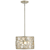 Ariell 3 Light 12 inch Antique Silver Pendant Ceiling Light