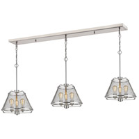 Iuka 9 Light 55 inch Brushed Nickel Island Light Ceiling Light