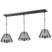 Iuka 9 Light 55 inch Bronze Island Light Ceiling Light