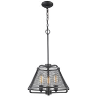 Z-Lite 451-16BRZ Iuka 3 Light 16 inch Bronze Pendant Ceiling Light in 16.00