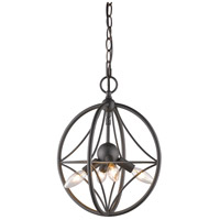 Cortez 4 Light 12 inch Bronze Pendant Ceiling Light