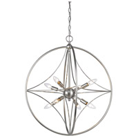 Z-Lite 452-24BN Cortez 8 Light 24 inch Brushed Nickel Pendant Ceiling Light in Brushed Nickel Steel