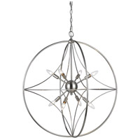 Z-Lite 452-30BN Cortez 8 Light 30 inch Brushed Nickel Pendant Ceiling Light in 30.00