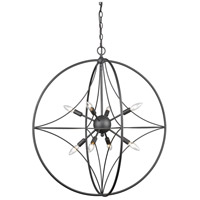 Z-Lite 452-30BRZ Cortez 8 Light 30 inch Bronze Pendant Ceiling Light in 30.00
