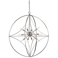 Cortez 12 Light 36 inch Brushed Nickel Pendant Ceiling Light
