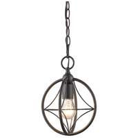 Z-Lite 452-8BRZ Cortez 1 Light 8 inch Bronze Pendant Ceiling Light in 8.00