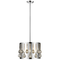 Z-Lite 453-13CH Oberon 3 Light 13 inch Chrome Pendant Ceiling Light