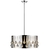Z-Lite 453-20CH Oberon 5 Light 21 inch Chrome Pendant Ceiling Light