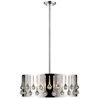 Z-Lite 453-24CH Oberon 6 Light 25 inch Chrome Pendant Ceiling Light