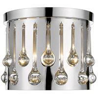 Z-Lite 453RF13CH Oberon 3 Light 13 inch Chrome Flush Mount Ceiling Light
