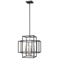 Titania 4 Light 18 inch Black and Brushed Nickel Pendant Ceiling Light