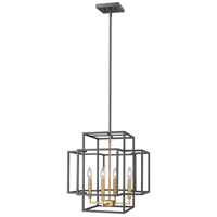 Z-Lite 454-18BRZ-OBR Titania 4 Light 18 inch Bronze and Olde Brass Pendant Ceiling Light