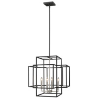 Z-Lite 454-22BK-BN Titania 4 Light 22 inch Black and Brushed Nickel Pendant Ceiling Light