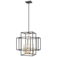 Z-Lite 454-22BRZ-OBR Titania 4 Light 22 inch Bronze and Olde Brass Pendant Ceiling Light