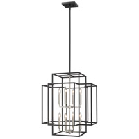 Titania 8 Light 22 inch Black and Brushed Nickel Pendant Ceiling Light