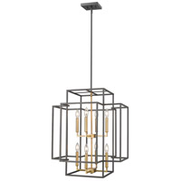 Z-Lite 454-28BRZ-OBR Titania 8 Light 22 inch Bronze and Olde Brass Pendant Ceiling Light
