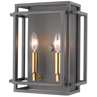Z-Lite 454-2S-BRZ-OBR Titania 2 Light 10 inch Bronze and Olde Brass Wall Sconce Wall Light