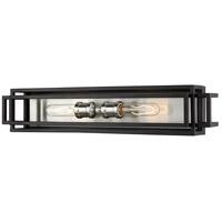 Z-Lite 454-2V-BK-BN Titania 2 Light 24 inch Black and Brushed Nickel Vanity Wall Light