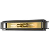 Z-Lite 454-2V-BRZ-OBR Titania 2 Light 24 inch Bronze and Olde Brass Vanity Wall Light