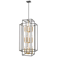 Z-Lite 454-42BRZ-OBR Titania 12 Light 20 inch Bronze and Olde Brass Pendant Ceiling Light