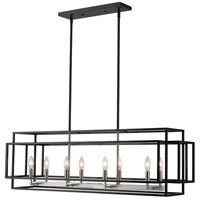 Z-Lite 454-44L-BK-BN Titania 8 Light 44 inch Black and Brushed Nickel Island Light Ceiling Light