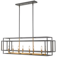 Z-Lite 454-44L-BRZ-OBR Titania 8 Light 44 inch Bronze and Olde Brass Island Light Ceiling Light