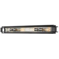 Z-Lite 454-4V-BK-BN Titania 4 Light 40 inch Black and Brushed Nickel Vanity Wall Light