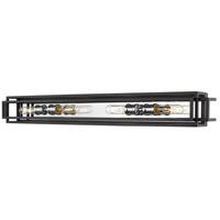 Z-Lite 454-4V-BK-CH Titania 4 Light 40 inch Black and Chrome Vanity Wall Light