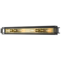 Z-Lite 454-4V-BRZ-OBR Titania 4 Light 40 inch Bronze and Olde Brass Vanity Wall Light