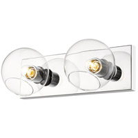Z-Lite 455-2V-CH Marquee 2 Light 16 inch Chrome Wall Sconce Wall Light