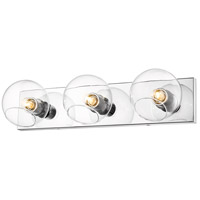 Z-Lite 455-3V-CH Marquee 3 Light 23 inch Chrome Wall Sconce Wall Light