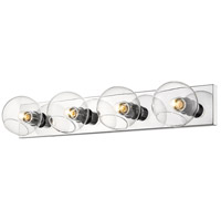 Z-Lite 455-4V-CH Marquee 4 Light 32 inch Chrome Wall Sconce Wall Light