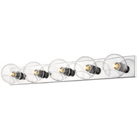Z-Lite 455-5V-CH Marquee 5 Light 40 inch Chrome Wall Sconce Wall Light