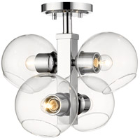 Z-Lite 455SF-CH Marquee 4 Light 14 inch Chrome Semi Flush Mount Ceiling Light