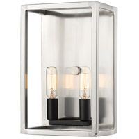 Z-Lite 456-2S-BN-BK Quadra 2 Light 5 inch Brushed Nickel and Black Wall Sconce Wall Light