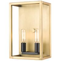 Z-Lite 456-2S-OBR-BRZ Quadra 2 Light 5 inch Olde Brass and Bronze Wall Sconce Wall Light