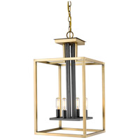 Z-Lite 456-4OBR-BRZ Quadra 4 Light 13 inch Olde Brass and Bronze Chandelier Ceiling Light