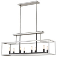 Z-Lite 456-8L-BN-BK Quadra 8 Light 40 inch Brushed Nickel and Black Island/Billiard Ceiling Light