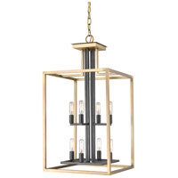 Quadra 8 Light 15 inch Olde Brass and Bronze Chandelier Ceiling Light