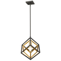 Z-Lite 457MP-OBR-BRZ Euclid 1 Light 12 inch Olde Brass and Bronze Mini Pendant Ceiling Light