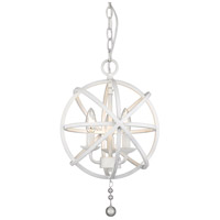 Z-Lite 458-12MW Tull 3 Light 12 inch Matte White Chandelier Ceiling Light