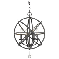 Z-Lite 458-16MB Tull 4 Light 16 inch Matte Black Chandelier Ceiling Light