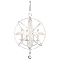 Z-Lite 458-16MW Tull 4 Light 16 inch Matte White Chandelier Ceiling Light