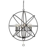 Z-Lite 458-30MB Tull 8 Light 30 inch Matte Black Chandelier Ceiling Light
