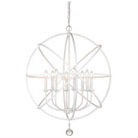 Z-Lite 458-30MW Tull 8 Light 30 inch Matte White Chandelier Ceiling Light