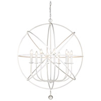 Tull 10 Light 36 inch Matte White Chandelier Ceiling Light