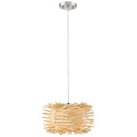 Sora 1 Light 12 inch Brushed Nickel Pendant Ceiling Light