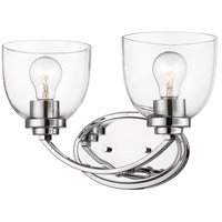 Z-Lite 460-2V-CH Ashton 2 Light 15 inch Chrome Vanity Wall Light