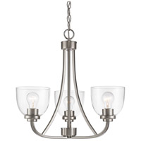 Z-Lite 460-3-BN Ashton 3 Light 21 inch Brushed Nickel Chandelier Ceiling Light
